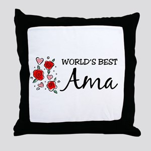 WB Mom [Basque] Throw Pillow